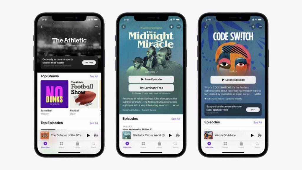 يوفر التصميم الجديد لتطبيق Apple Podcasts برامج بودكاست مدفوعة باشتراك شهري