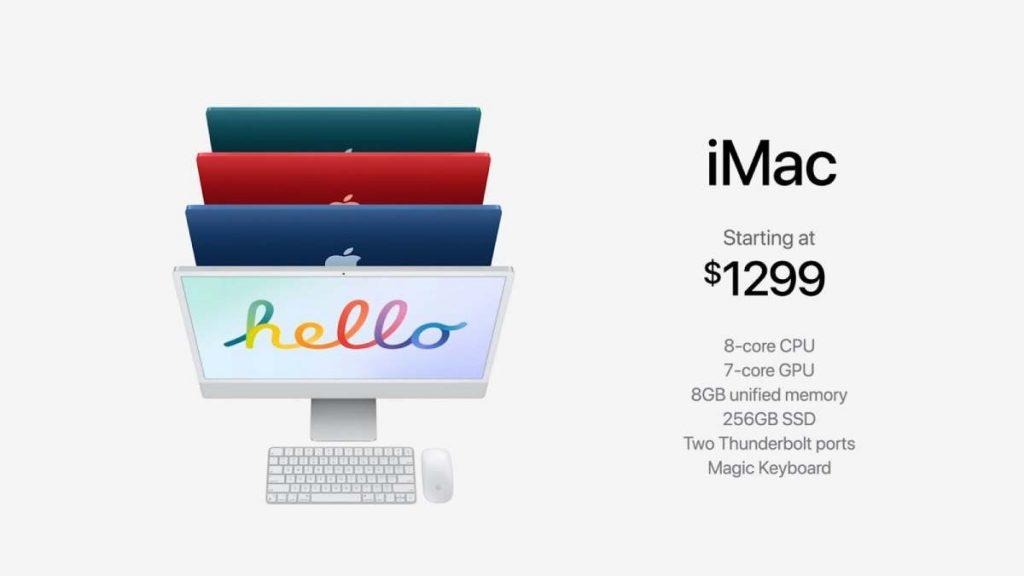 ملخص مؤتمر آبل: إصدار جديد من iMac بتصميم جديد أنحف بألوان متنوعة