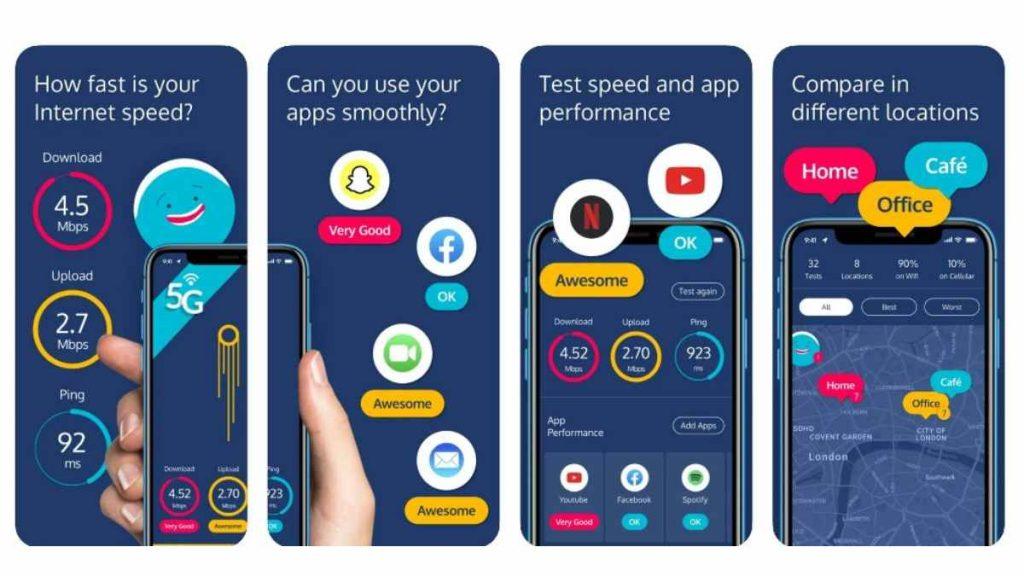 أفضل تطبيقات قياس سرعة الإنترنت Meteor