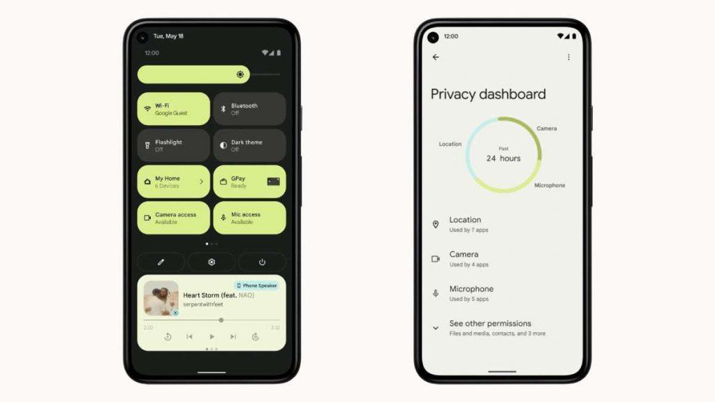 مميزات الخصوصية في android 12 اندرويد 12