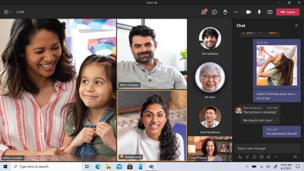 يوفر الإصدار الشخصي من مايكروسوفت تيمز Microsoft Teams للمستخدمين إمكانية إجراء مكالمات فيديو شخص مقابل شخص مجانا لمدة  24 ساعة يوميا
