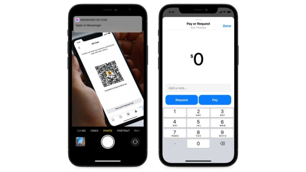 أتاحت فيسبوك لمستخدمي ماسنجر Messenger  الحصول على روابط ورموز QR للدفع