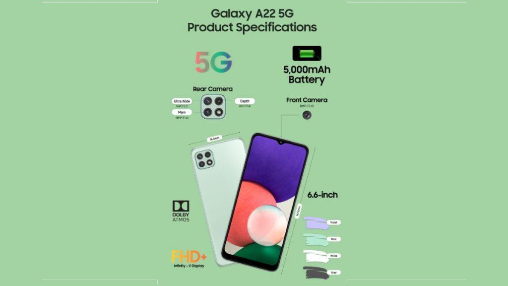 مواصفات Samsung Galaxy A22 5G