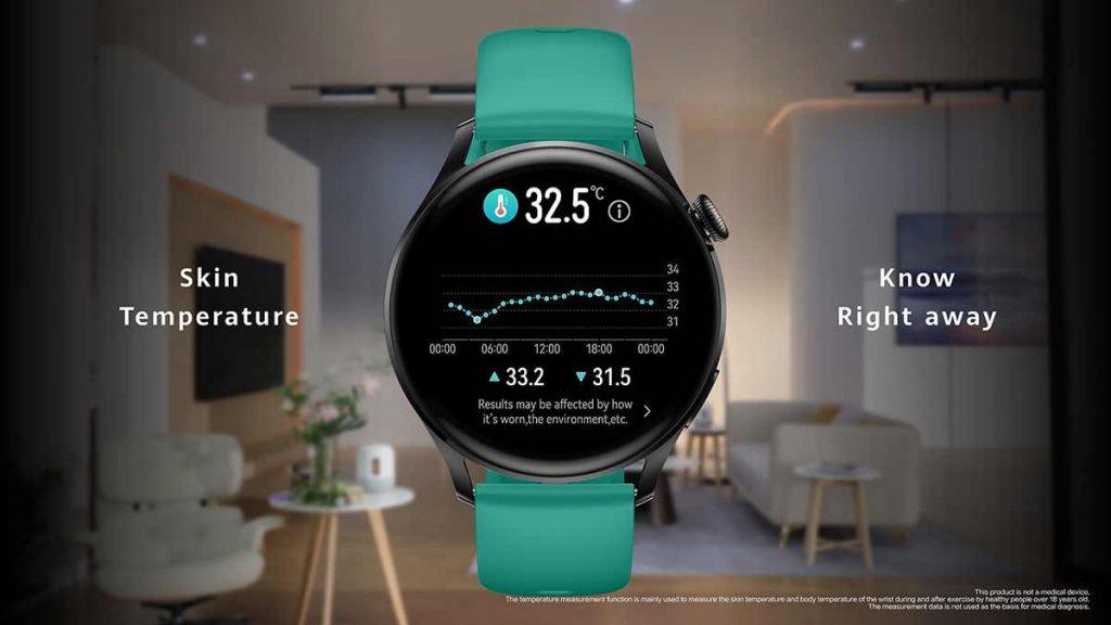 تدعم ساعة هواوي Huawei Watch 3 الذكية قياس درجة الحرارة
