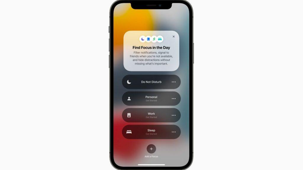 أبرز مميزات iOS 15: ميزة focus