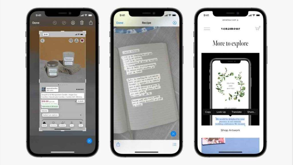 ومن أبرز المميزات التي كشفت عنها آبل خلال WWDC21 في ios 15 ميزة Live text القادمة لهواتف آيفون وأجهزة آيباد وأجهزة ماك