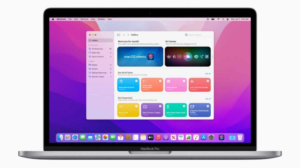 يجلب الإصدار الجديد من نظام ماك macOS Monterey أيضا تطبيق الاختصارات Shortcuts