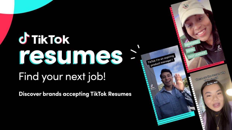 تيك توك تطلق أداة التوظيف TikTok Resumes