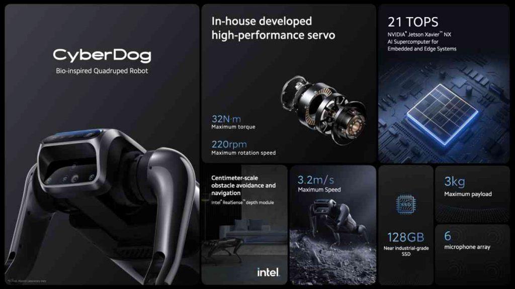 مميزات روبوت شاومي سايبردوج cyberdog