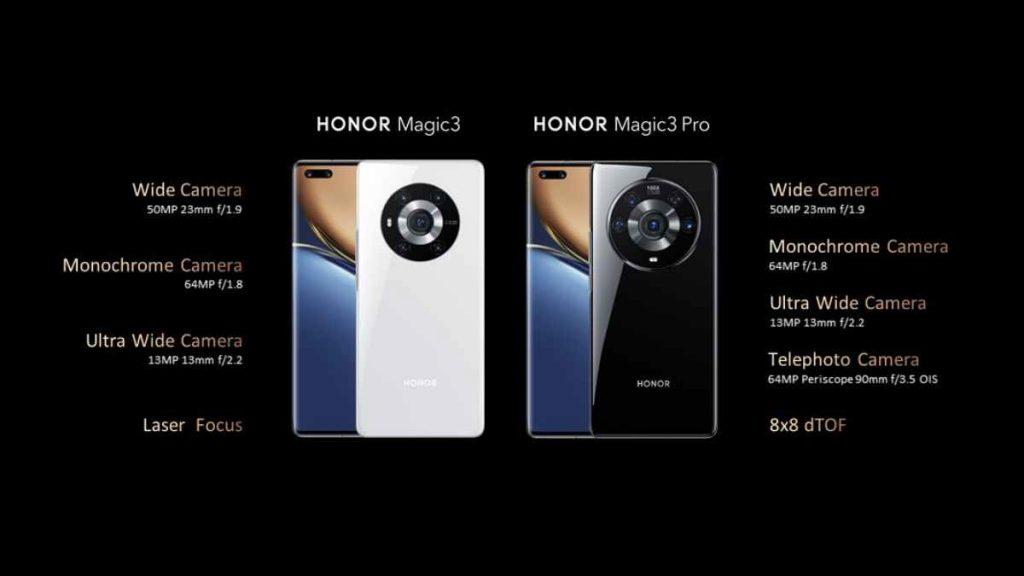 الكاميرا في هواتف هونر ماجيك 3 و3 برو و3 برو بلس