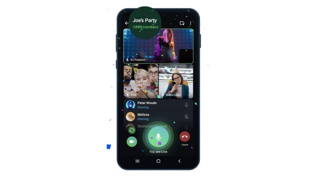 مميزات مكالمات الفيديو الجماعية الجديدة في تليجرام