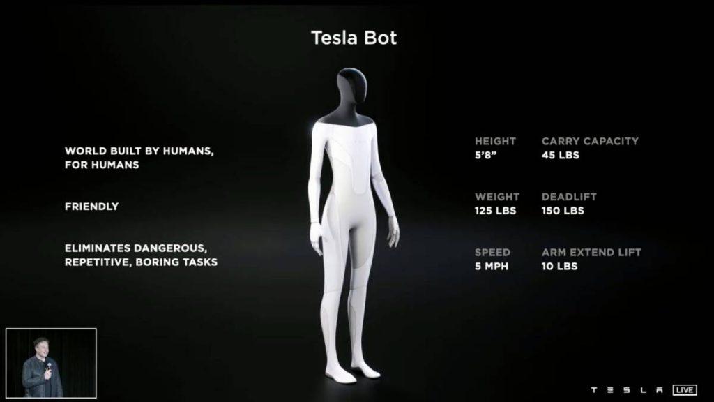 الروبوت Tesla Bot