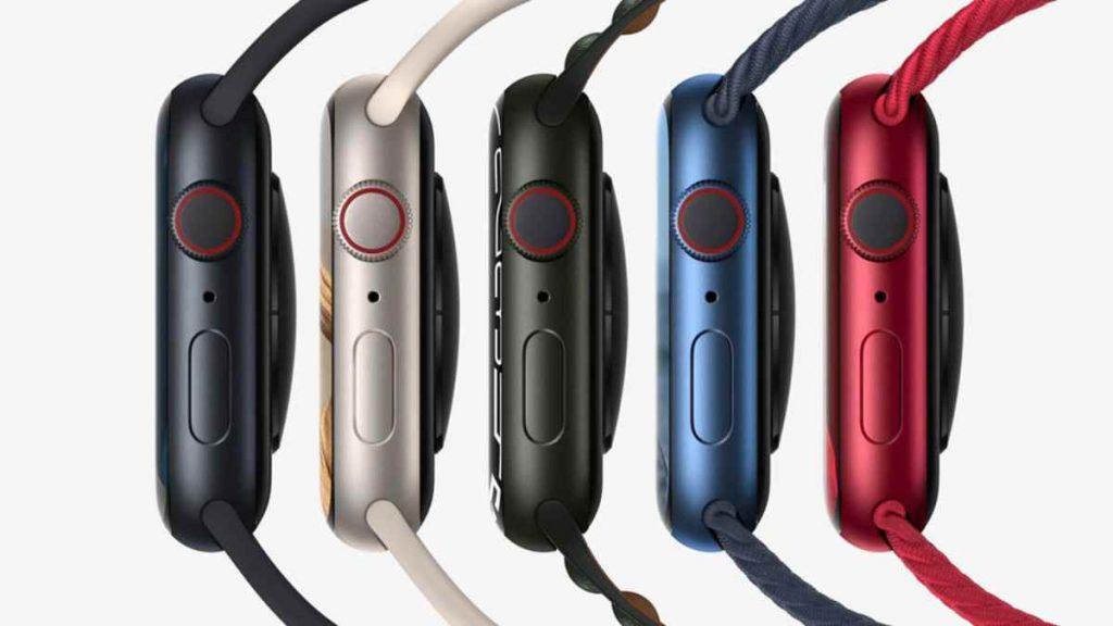 تتوفر ساعة ابل ووتش سيرس 7 الذكية الجديدة Apple Watch Series 7 بخمسة ألوان