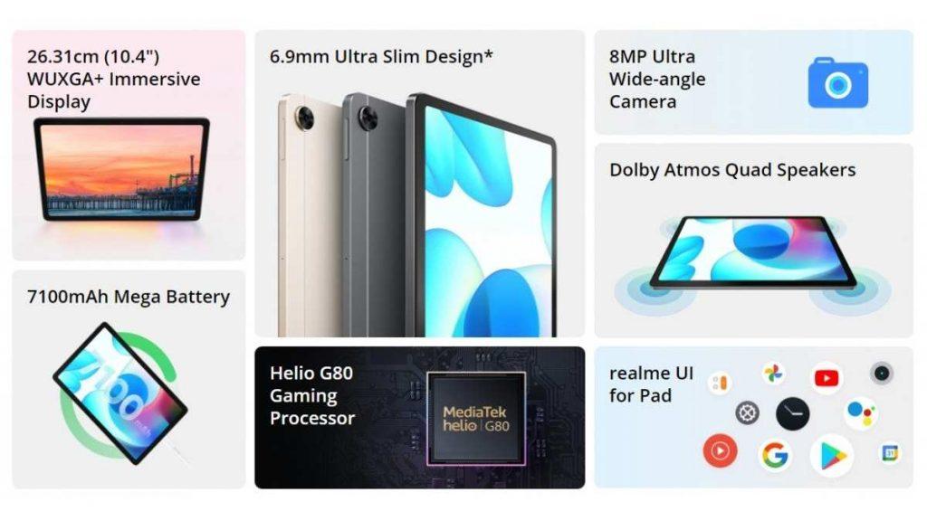 أفضل مميزات تابلت ريلمي باد Realme Pad الجديد